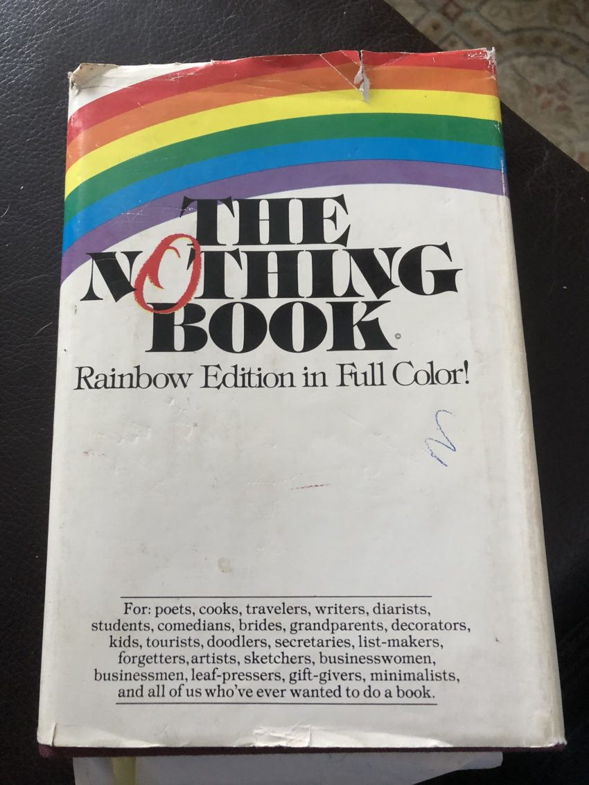 The Nothing Book... a journal from my youth