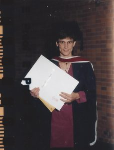 Allison receiving one her degrees -- her Masters from McMaster, I think