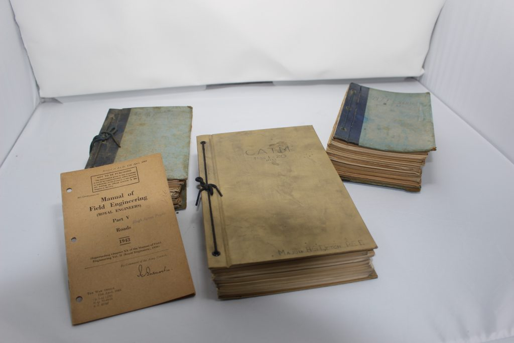 Military Handbound books containing pamphlets of military strategy