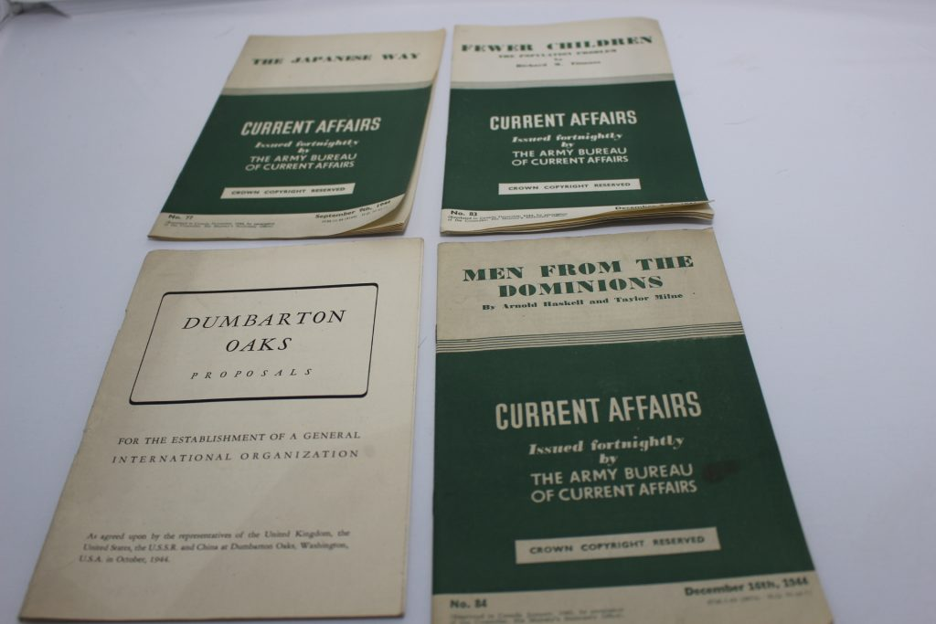 Military Pamplets:  Current Affairs