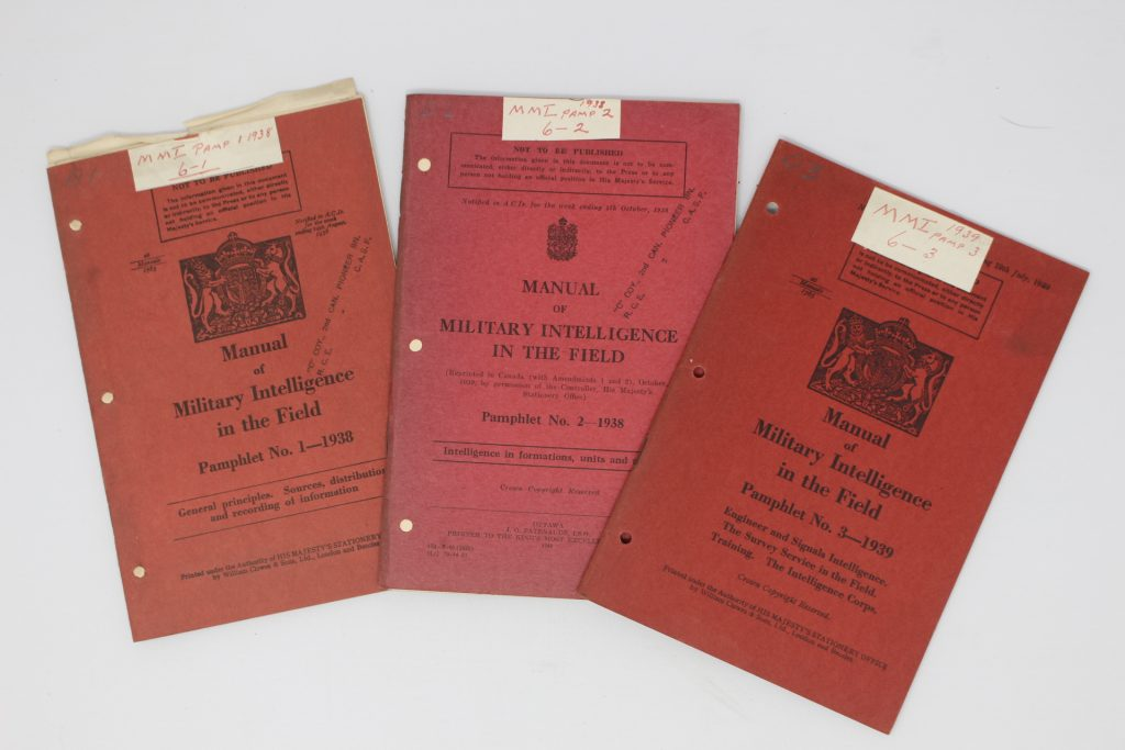 Manuals of Military Intelliigence in the field