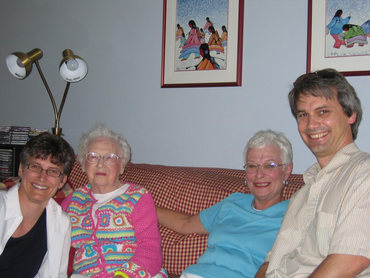Allison, Nanny, Mom and me